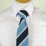 Lurex Stripe tie blue navy