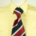 Lurex Stripe Tie Red Navy
