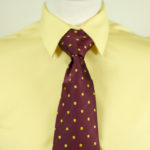 Spot Tie Burgundy yellow