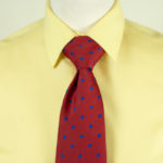 Spot Tie Red Blue