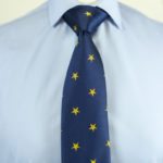 Star Tie Blue Yellow