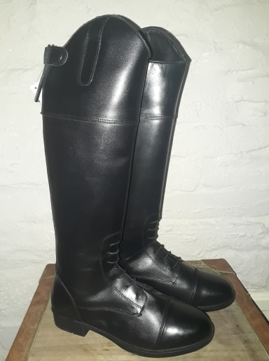 Children's Long Leather Riding Boots