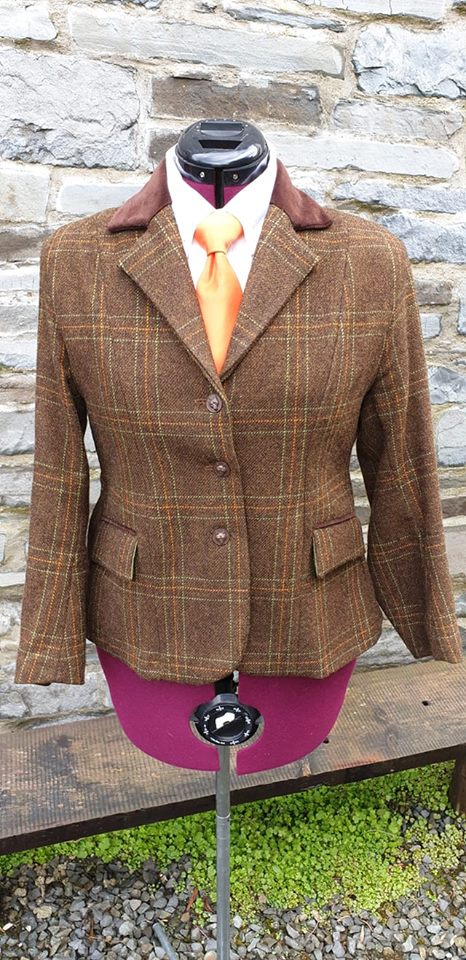 Preowned Limited Edition Ceri Tweed Bespoke Ladies Riding Jacket