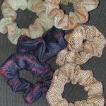 Tweed Hair Scrunchies