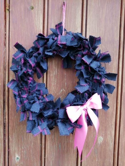 Rose Tweed Wreath